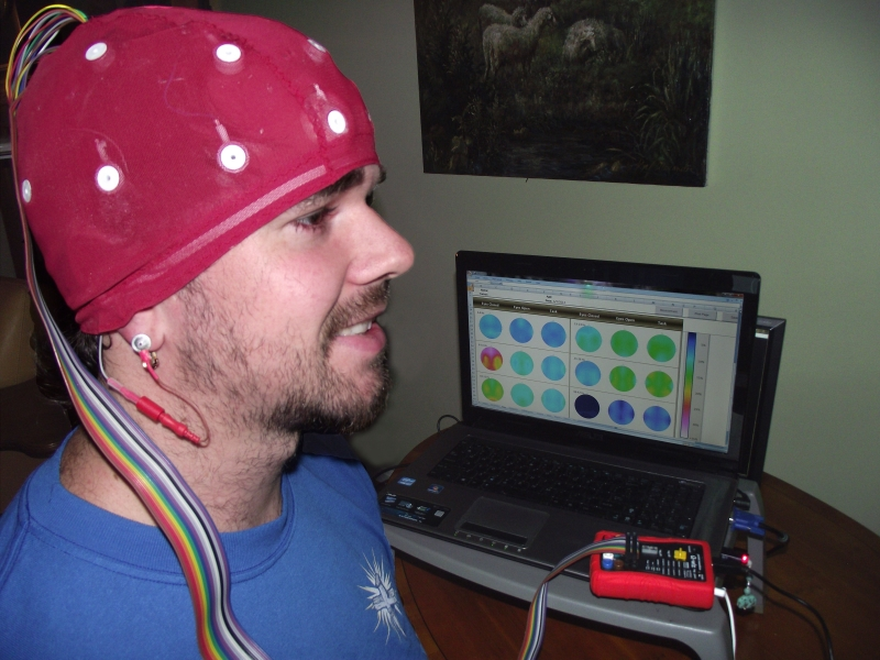 Trainer's QEEG with cap