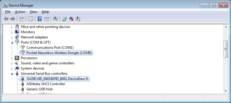 view of device manager