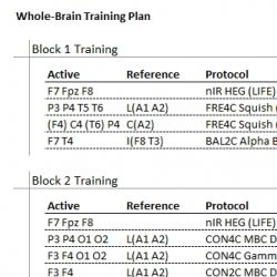 Plan de entrenamiento de Whole-Brain