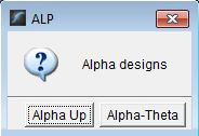 alpha design options