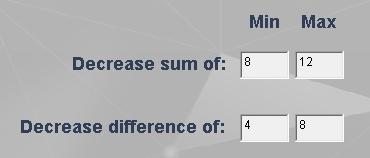 Sum & diff settings