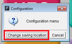 select change saving location