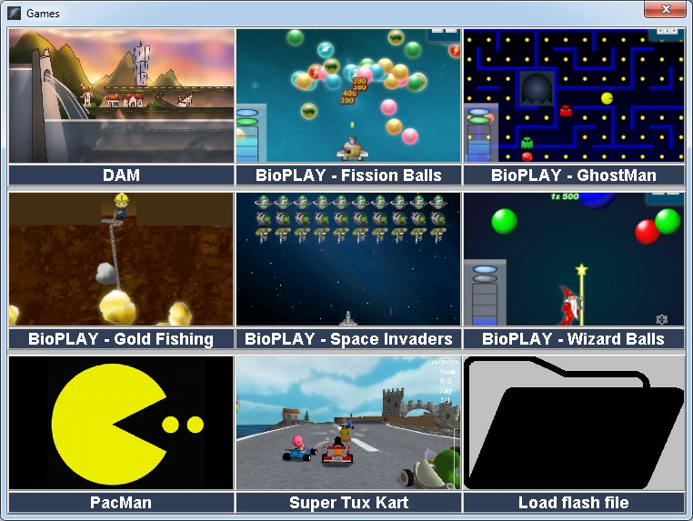 games panel